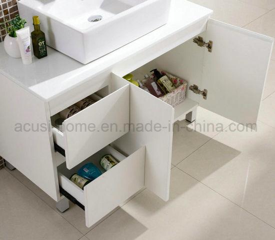 China Floor Mounted Modern Style White Plywood Bathroom Vanity ACS - Bathroom vanities floor mounted