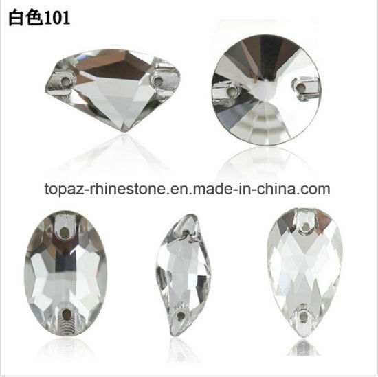 Catalogue Garment Ornament Glass Flat Back Crystal Sew on Stone pictures    photos e58ab0da21b3