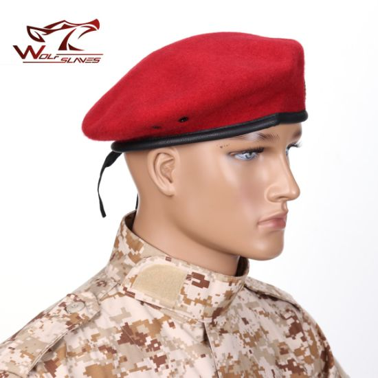 dd75e66af5f05 China Military Beret Army Beret Red Beret 100% Wool Beret - China ...