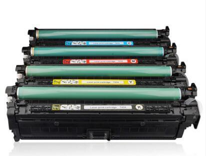 Suitable for HP CP5525n 5525dn Printer Toner Cartridge CE270A CE271A CE272A CE273 Black Toner Cartridge with chip 1500 Pages high-Yield Clear Office Supplies