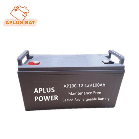 12V 100ah Sealed Medium Size VRLA Batteries for Electronic Appliance
