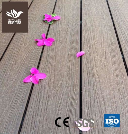 Outdoor WPC Flooring Board Wood Plastic Composite Co-Extrusion Decking