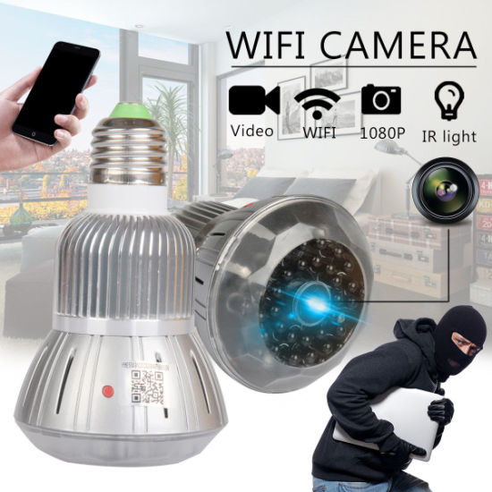Full HD 1080P LED Bulb Hidden WiFi Camera Motion Detection, Digital Video Security Surveillance Camera