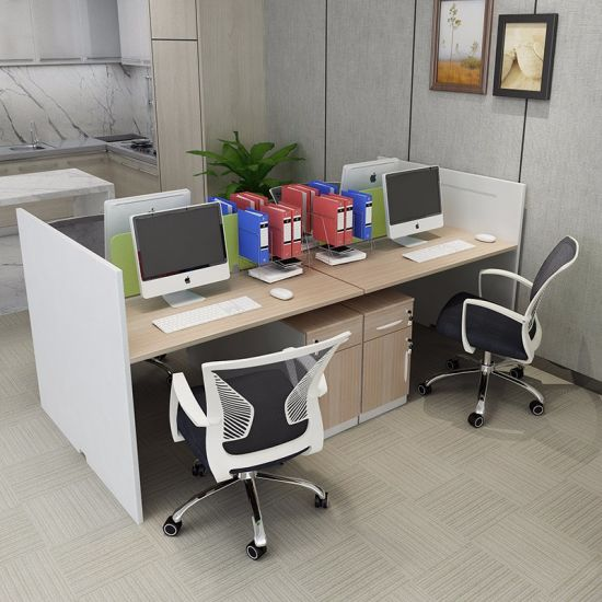 Modern 4 Seater Office Cubicle Partition Workstation