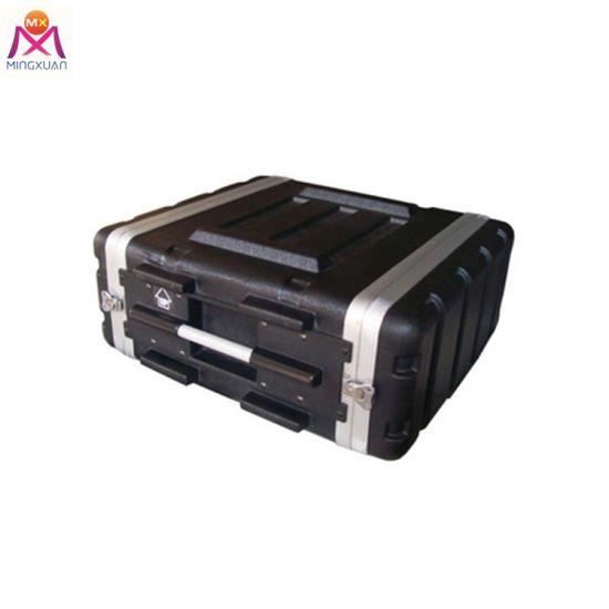 "Audio ABS Tool Case Box Plastic Case 19"" Rack Flight Case Travel Trolley Case"