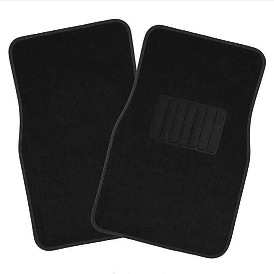 Car Floor Mats for Auto 4pc Carpet Semi Custom Fit Heavy Duty w//Heel Pad Black
