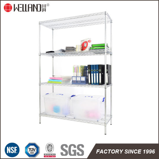 18 Inch Wide Shelving Unit Chome