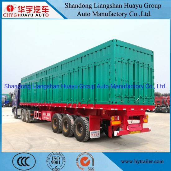 3 Axle Heavy Duty Box/Van Shape/Type Dump/Tipper/Tipping Semi Trailer for Construction Waste/Sand Transport