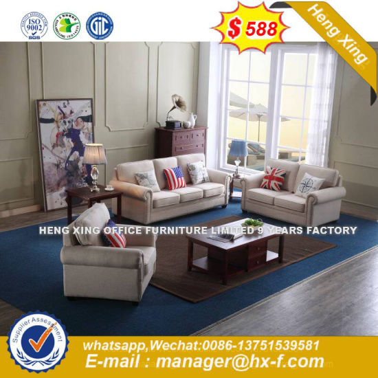 European Design Office Furniture Living Room Fabric Edge Sofa Hx Sn8082