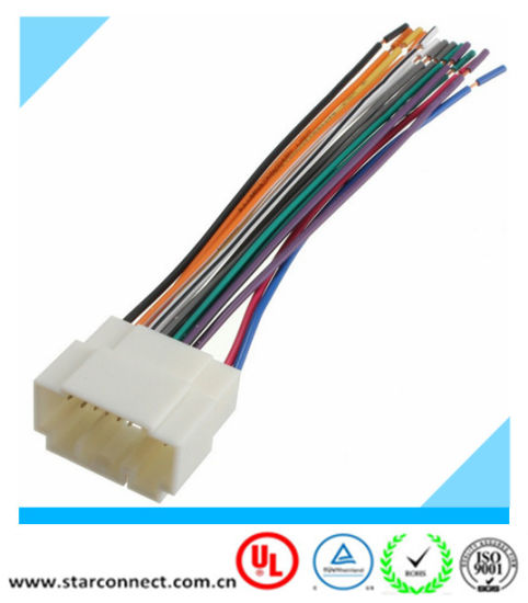 China Replacemaent Auto Radio Stereo ISO Wire Harness 20 Pin ... on 20 pin power supply, computer wire harness, 20 pin cable assembly,