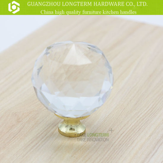 Round Zinc Clear Crystal Furniture Knob Cabinet Knob pictures & photos