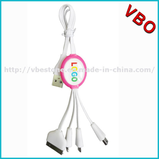 4 in 1 Universal Mobile Phone Charging Cable, High Quality 4 in 1 USB Multi Charging Data Cable