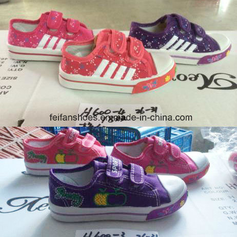 Low Price Sale Latest Stocked Children Injection Canvas Shoes (HH16327) pictures & photos