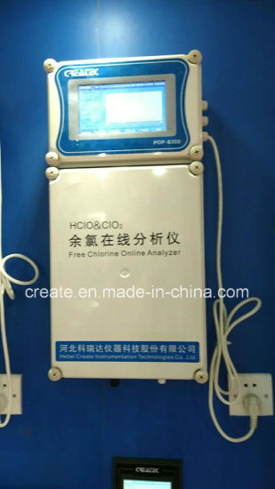 """7"""" Touch Screen Free Chlorine Online Analyzer, Total Chlorine, Hclo/Clo2 Online Measure"""
