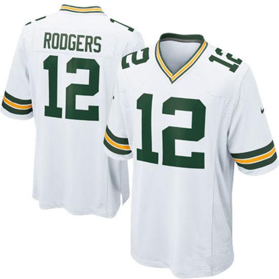 Custom Customized Packers Jerseys 12 Aaron Rodgers Football Jerseys