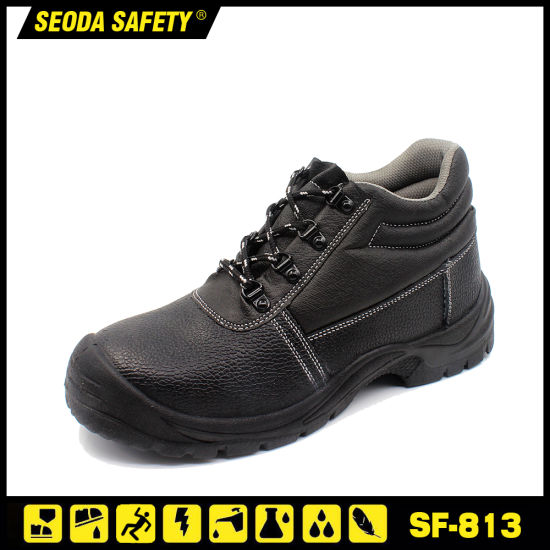 S3 MID-Cut Genuine Embossed Leather Safety Shoe for Workers