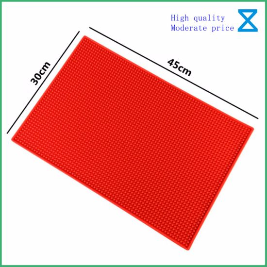 Professional Producing High Quality PVC Silicone Rubber Bar Mat for Bar Promotional Gifts