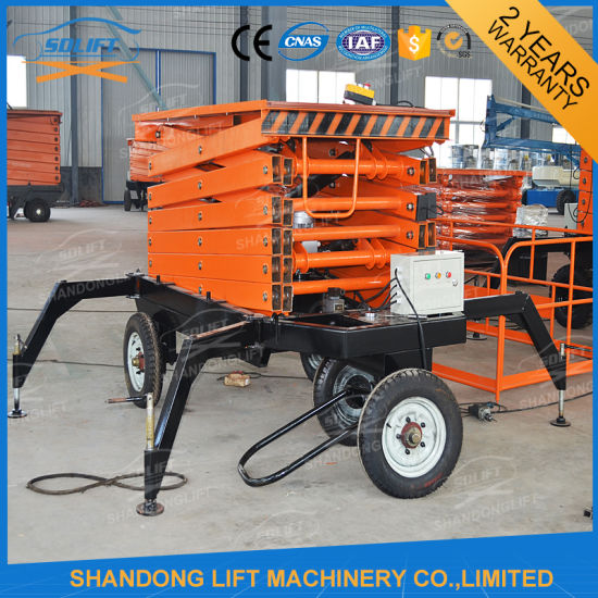 Outdoor Scissor Hydraulic Lifting Platform with Explosion-Proof Lock Valve pictures & photos