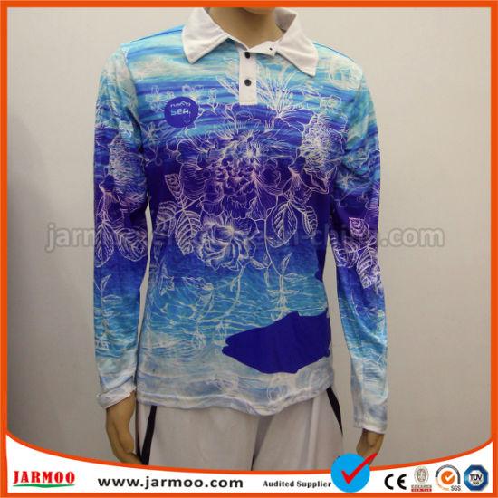 Custom Men's Fashion Polyester Sublimation Printing Polo Shirt