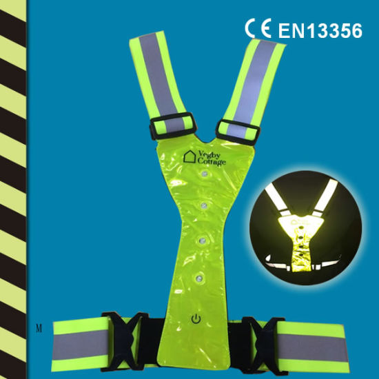 Reflective LED Running Vest W Ce En13356 Chinese Factory