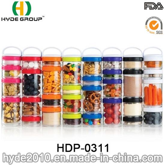 China Hot Sale BPA Free Plastic Pill Box Plastic Protein Powder