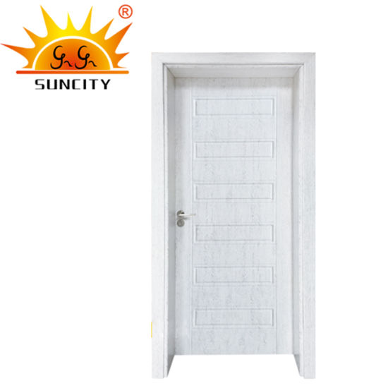 Hot Sale Interior PVC MDF Glass Wood Bathroom Door
