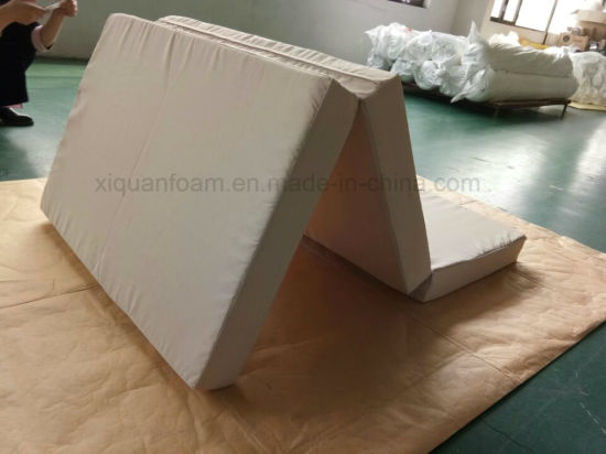 Folding Furniture With High Density Foam Zip Knitting Fabric Mattress