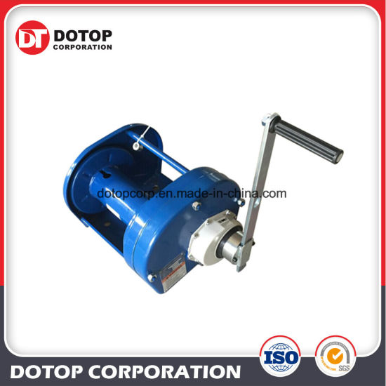 China Marine Double Drum Hand Tractor Winch Portable