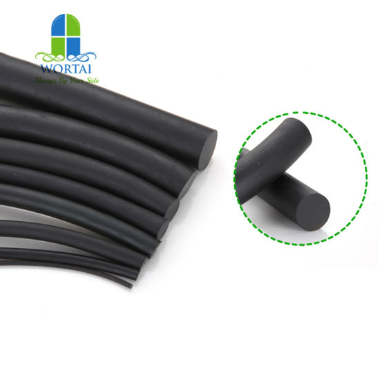 Extruded NBR HNBR EPDM FKM Viton Rubber Seal Strip Cord