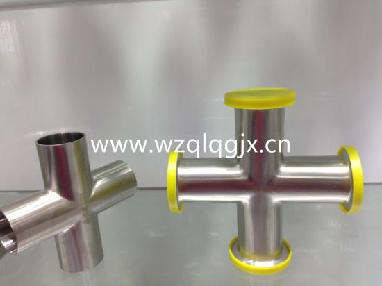 Sanitary Stainless Steel Pipe Fitting Butt Welding Cross pictures & photos