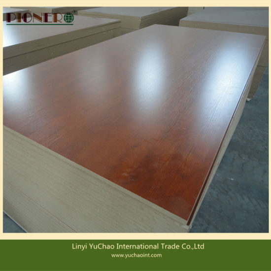 Wooden Grain Colors Melamine Mdf In China