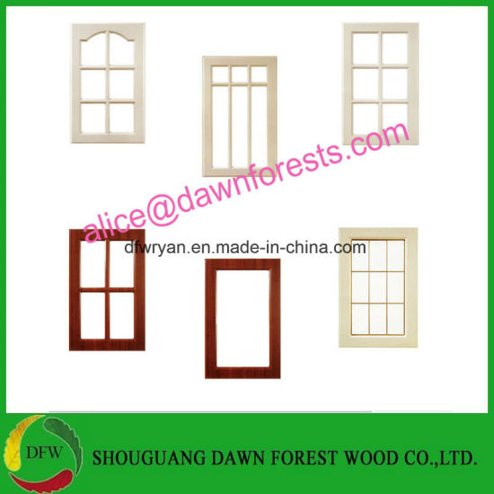 China 18mm16mm With E1 Customizable Pvc Glass Kitchen Cabinet Door