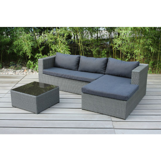 Simple Wooden Lounge Sofa Set Garden Patio Outdoor Furniture (FS-4115+FS-4116+FS-4117) pictures & photos
