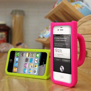 Multifunfctional Silicone Mug Phone Case for iPhone