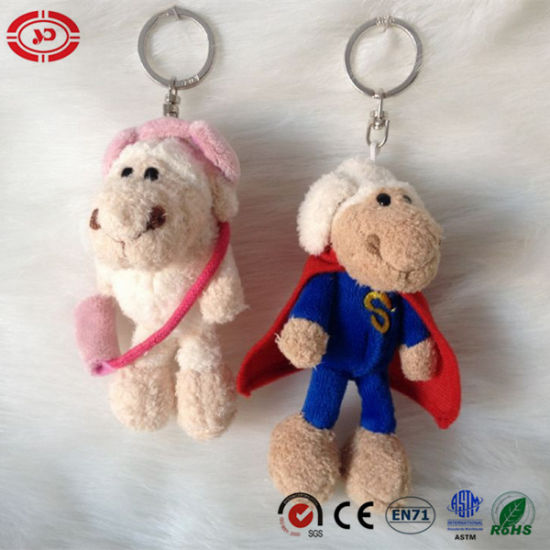 New Design Popular Sheep with Cape Bag Plush Keychain Toy pictures & photos