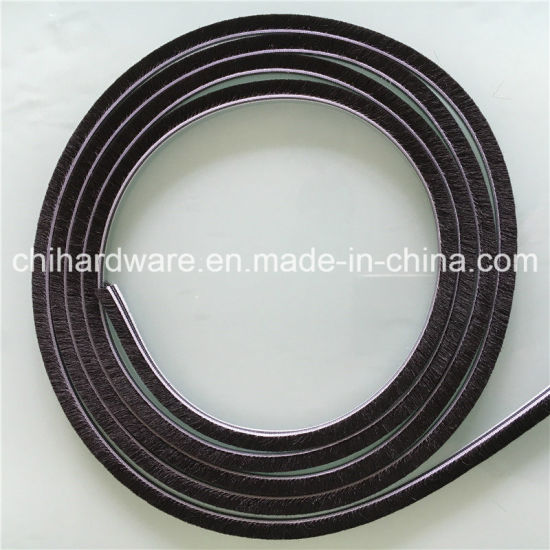 Aluminum Window & Door Wool Pile Weather Strip with Self-Adhesive pictures & photos