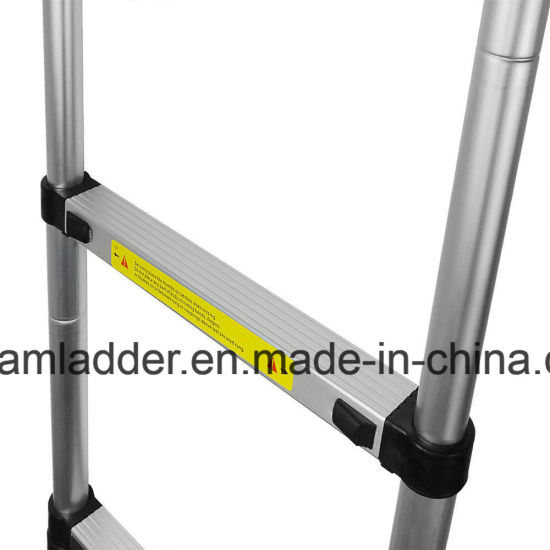 6.6m Single Telescopic Ladder 16steps Aluminum Alloy Folding Step Stairs pictures & photos