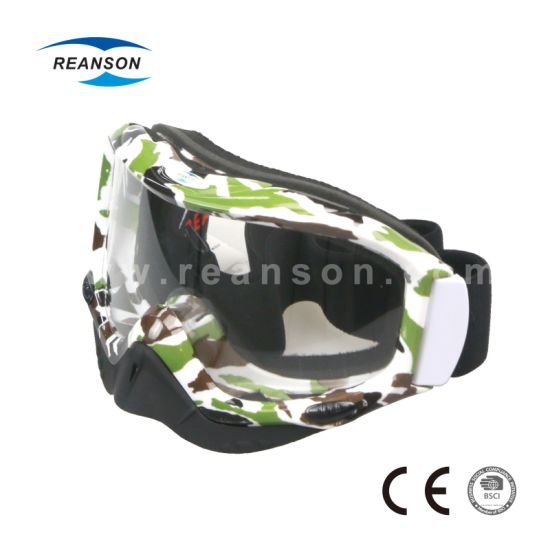 Camouflage Tear off Sheet Motocross Goggles