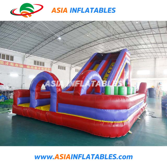 Inflatable Soft Playground Obstacle Course Insane Inflatable Obstacle