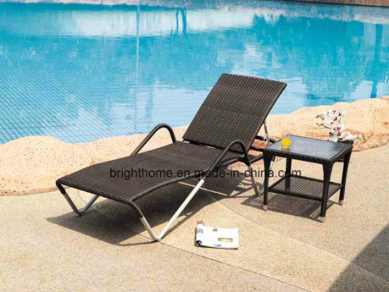 China Resin Wicker Sun Lounger Outdoor