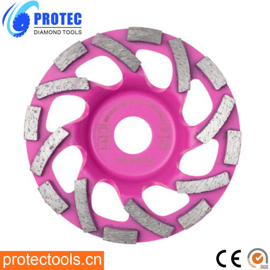 """Metal Bond Diamond Cup Grinding Wheels Single Row/Double Row/Turbo/Swirly for Machine with M16/ M14 /5/8""""-11 7/8"""" Connector"""