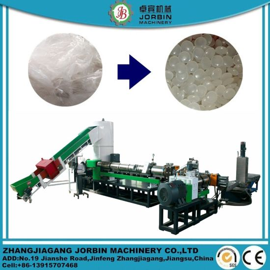 Waste Plastic Hdle LDPE PP Jumbo Woven Bags Pet Film Recycling Pelletizing Extruder Machine with Mother and Baby Combination/Two Stage Extrusion Machine