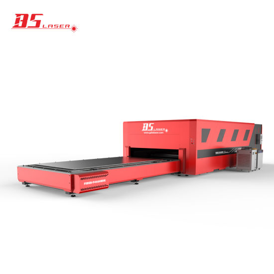 Automatic High Power Autofocus Laser Head Enclosed Fiber Laser Cutting Machine with 4000*2000mm Shuttle Table