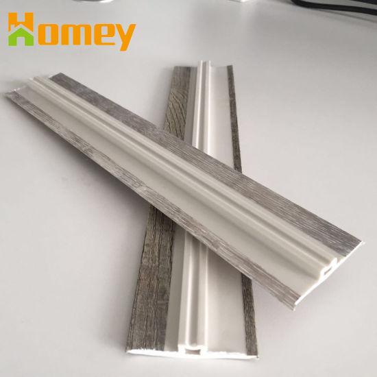 Polystyrene Plastic PVC Vinyl Floor Accessories Waterproof Skirting  T-Moulding