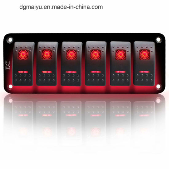 Excellent China Rocker Switch 6 Gang Toggle Switches 5 Pin On Off Led China Wiring Cloud Peadfoxcilixyz