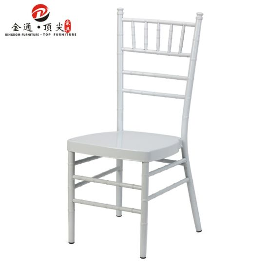 Top Furniture White Aluminium Wedding Furniture Chiavari Chairs