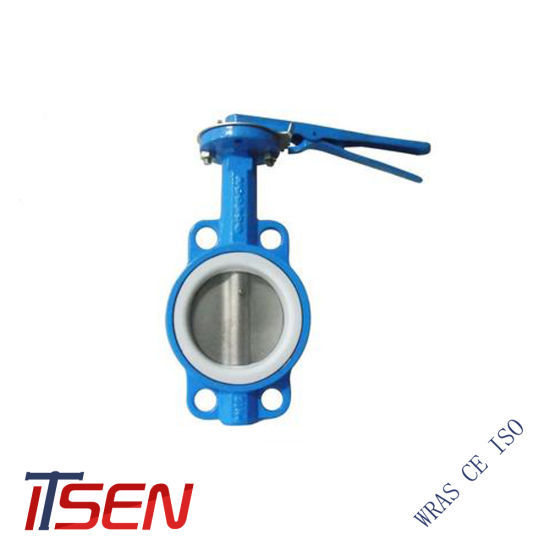 Ci (gg25) / Di (GGG50/GGG40) / CF8 / CF8m Lever Opreated Wafer Butterfly Valve with EPDM/PTFE Seat