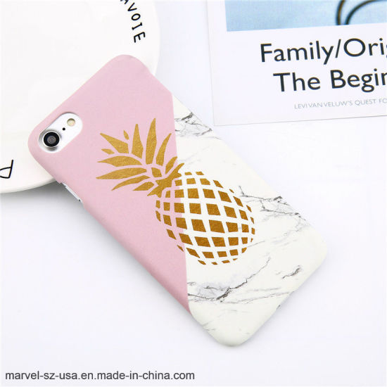 Pineapple Marble Hard PC Phone Cover Cases for iPhone 6 6s Plus 7 7plus 8 8plus