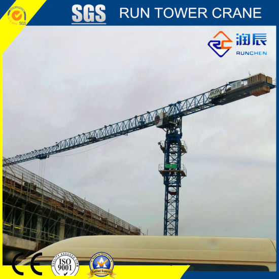 5517-8 Flat Top Tower Crane with 55m Boom for Construction