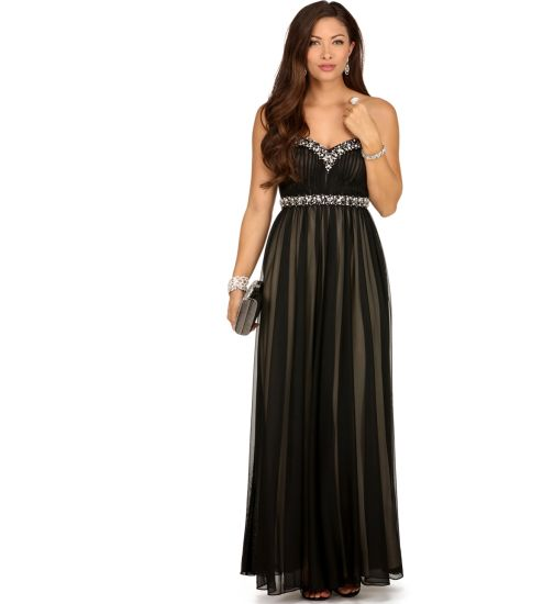 Tulle Strapless Beading A-Line Formal Evening Dress Party Dress